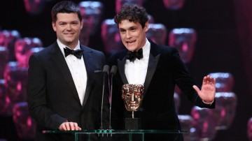Christopher Miller and Phil Lord accepts the Best Animated Film BAFTA for The Lego Movie