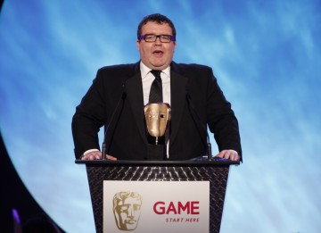 Labour Politician and video games enthusiast Tom Watson announces the winning game in the Multiplayer category (BAFTA/Brian Ritchie)