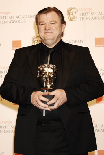 Brendan Gleeson accepted the Original Screenplay award on behalf of In Bruges writer, Martin McDonagh (BAFTA/ Richard Kendal).