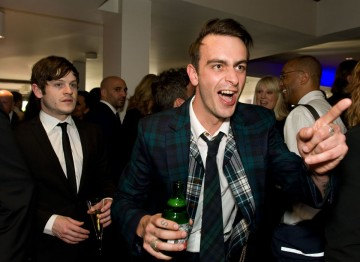 Leading Actor nominee Joe Gilgun enjoys a bottle of Vedett, Official Beer Partner to the BAFTA Television Awards, at the post-ceremony party.