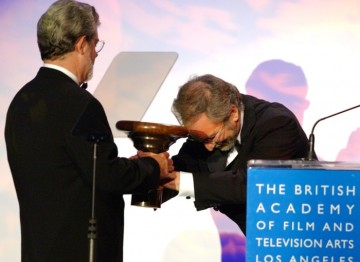 Steven Spielberg presents George Lucas with his Britannia Award
