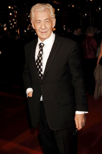 Sir Ian McKellen, the Lord of the Rings star, exudes class