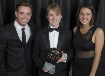 Geraint Hardy (L), Jon Rennie (C), Anni Llyn (R)