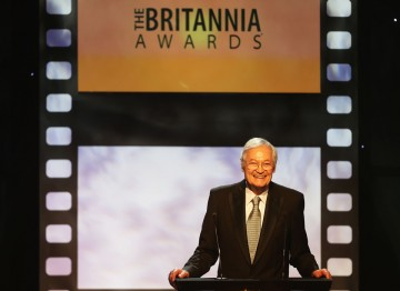 Producer Roger Corman presented the John Schlesinger Britannia Award for Excellence in Directing to Quentin Tarantino.
