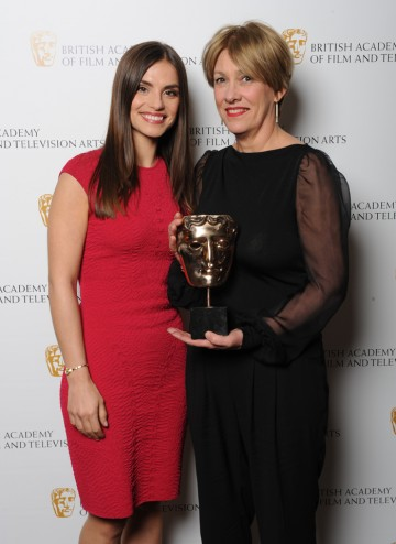 Costume Design winner Charlotte Walter with actress Charlotte Riley.