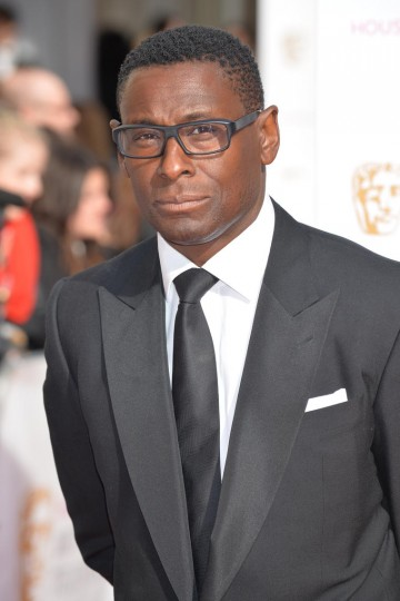 David Harewood looking suave outside London's Theatre Royal
