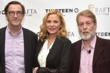 Kim Cattrall with Steven Segaller and Richard Denton