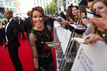 Katie Piper meets her fans outside London's Theatre Royal