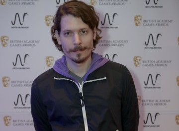 Lucas Pope (Papers, Please) at the BAFTA Games Nominees Party.