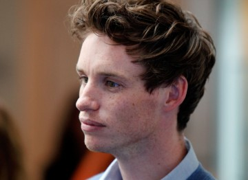 Actor Eddie Redmayne at the jury drinks reception