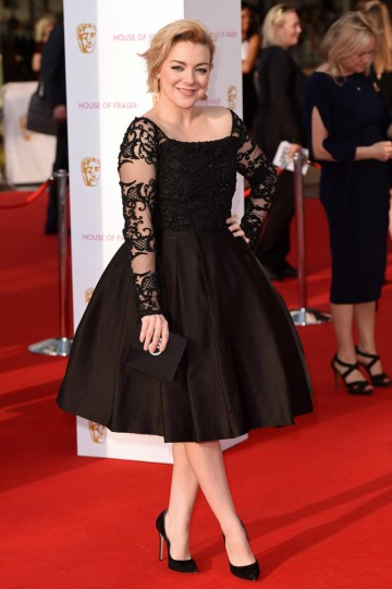 Leading Actress nominee Sheridan Smith looks stunning on the red carpet