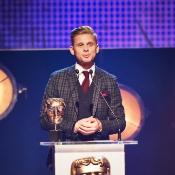 Jeff Brazier presents the BAFTAs for Interactive: Adapted and Interactive: Original at the British Academy Children's Awards in 2015