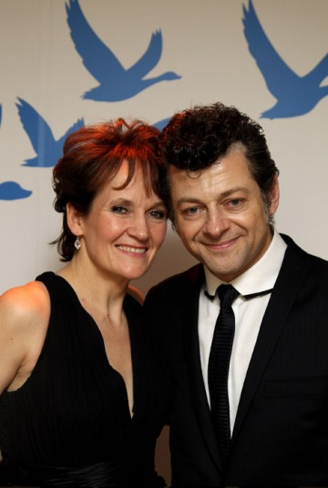 Andy Serkis and guest at the Official Soho House and Grey Goose party for the Orange British Academy Film Awards.