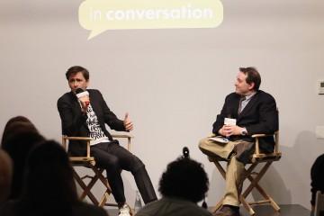 David Tennant and moderator Ethan Alter.