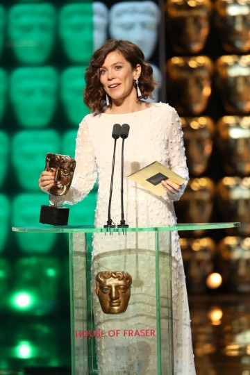 Anna Friel presents the award for Male Performance In A Comedy Programme