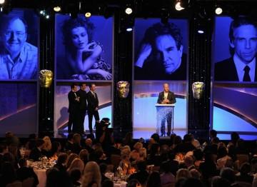 Honoree David Yates collects his Britannia Award