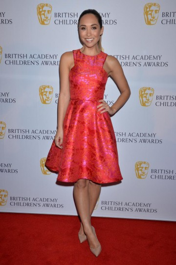 Former Hear'say member Myleene Klass on the red carpet at the British Academy Children's Awards in 2014