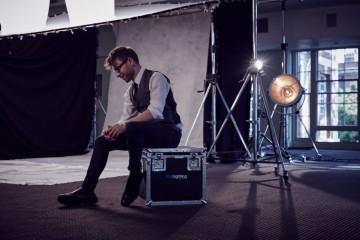 2015 Breakthrough Brit Luke Whittaker getting ready for the Breakthrough Brits photoshoot
