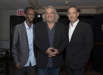 Barkhad Abdi, Director Paul Greengrass and Tom Hanks