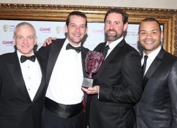 Over 110,000 members of the public cast their vote in this category, with the majority plumping for the latest in the biggest action series of all time. The winners are pictured with presenters Michael Underwood and GAME's Martyn Gibbs. (Pic: BAFTA/Steve