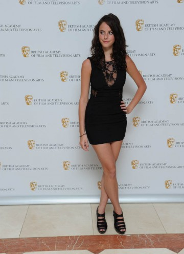 Skins star Kaya Scodelario wows the waiting press at the red carpet entrance to the Television Craft Awards.