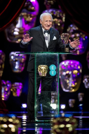 Mel Brooks accept the Fellowship Award.