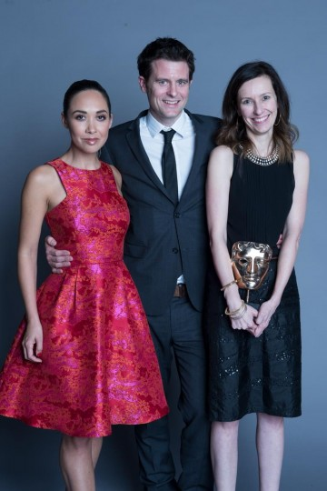 The team behind Junior Bake Off, winner of the Entertainment category at the British Academy Children's Awards in 2014, presented by Myleene Klass