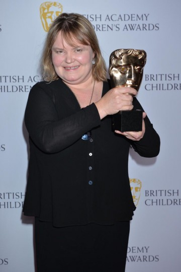 CBBC wins the Channel category at the British Academy Children's Awards in 2015, presented by Pat Sharp.