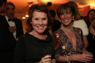 Imelda Staunton beams at the Gala Dinner champagne reception