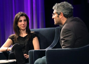 In discussion with Jason Solomons at the Screenwriters' Lecture. (Photography: Jay Brooks)