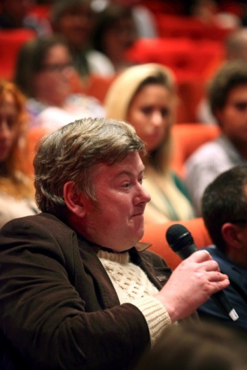An audience member asks a question. (Picture: BAFTA / J. Simonds)