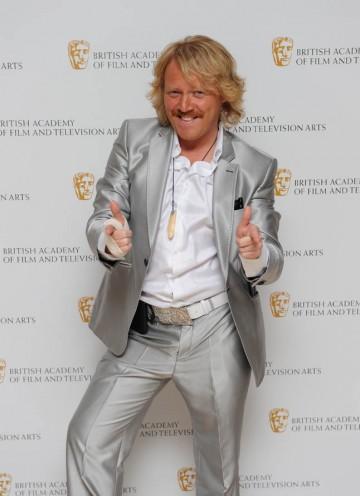 Leigh Francis' comedy creation Keith Lemon bursts onto the red carpet at the British Academy Television Craft Awards.