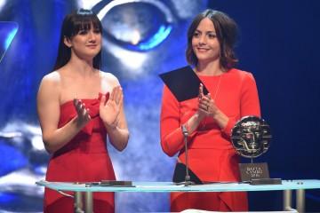 Sara Lloyd Gregory and Catrin Stewart present the Short Film award