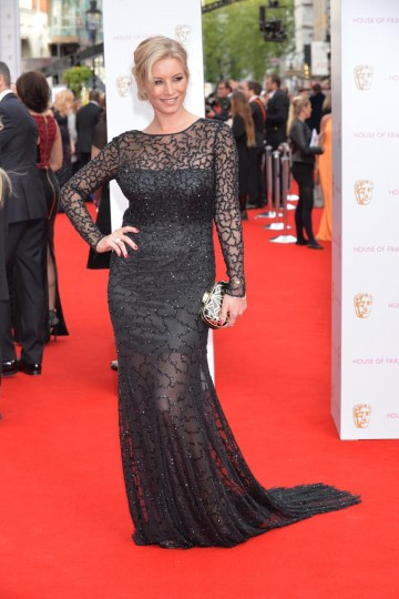 Denise Van Outen strikes a pose. Dress by House of Fraser, hair by Mark Hill, make up by MAC