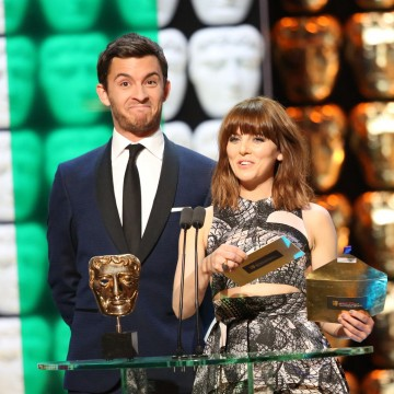 Ophelia Lovibond and Jonathan Bailey present the award for Comedy and Comedy Entertainment Programme