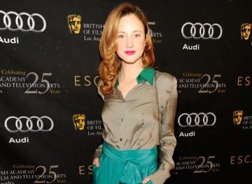 Andrea Riseborough, dressed by Escada.