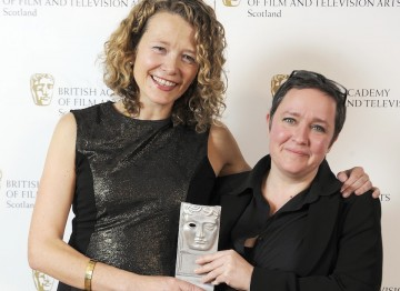 Directors Emma Davie and Morag McKinnon won the Director award for their documentary I Am Breathing.