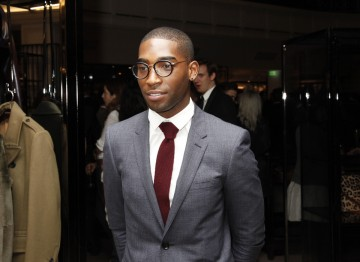 Tinie Tempah at Burberry for the Breakthrough Brits celebration evening.