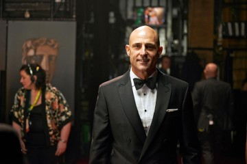 Backstage at London's Royal Opera House with Mark Strong, presenter of the BAFTA for Outstanding Debut By A British Writer, Director or Producer.