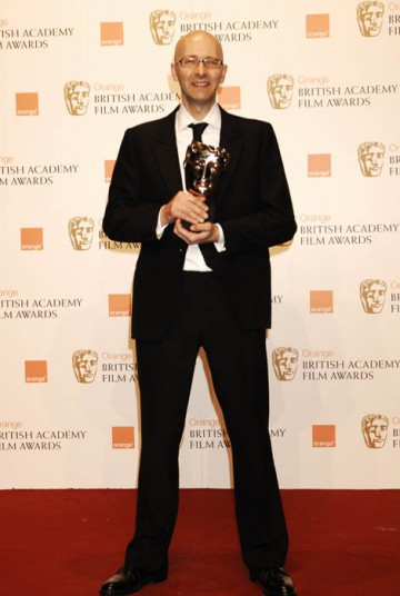 Chris Dickens, the man who pieced together Slumdog Millionaire, took the award for Best Editing. (BAFTA/ Richard Kendal.)