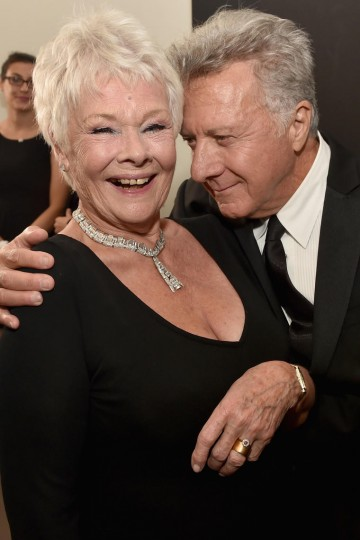 Honoree Dame Judi Dench (L) and actor Dustin Hoffman
