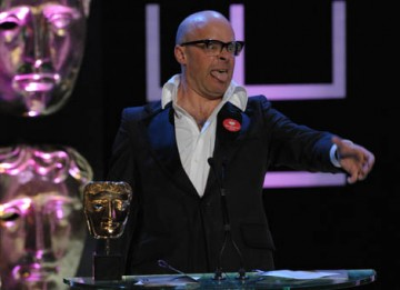 Harry Hill collected a third BAFTA in two years for his performance on his self-titled clip show, Harry Hill's TV Burp (BAFTA / Marc Hoberman).