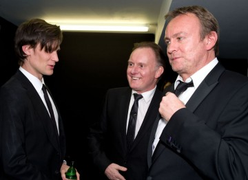 Doctor Who's Matt Smith meets the Glenister brothers at the After Party.