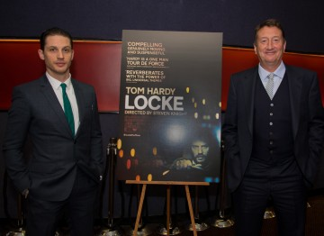 Tom Hardy and director Steven Knight.
