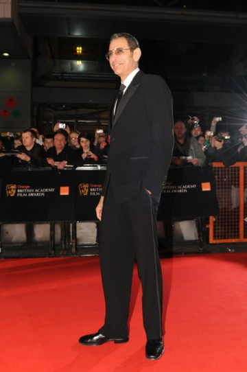 Jeff Goldblum on the red carpet at the Orange British Academy Film Awards in 2008.