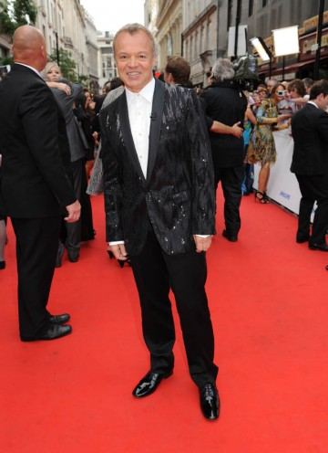 The host for the night, Graham Norton, arrives at the Philips British Academy Television Awards (BAFTA/Richard Kendal).