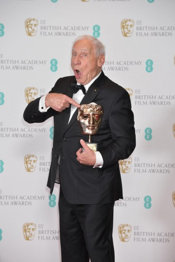 Mel Brooks, recipient of the BAFTA Fellowship.