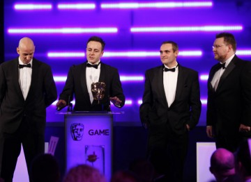 Codemasters' official Formula One sim features spectacular detail thanks to the EGO engine; it wins the award for Sports title. (Pic: BAFTA/Brian Ritchie)