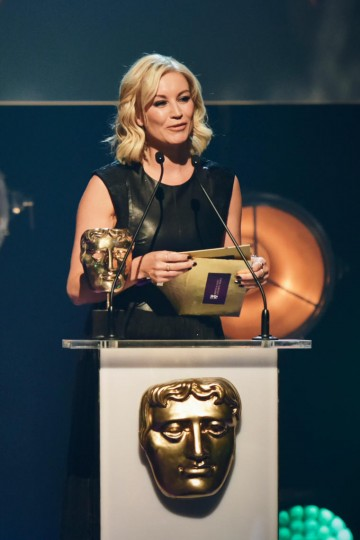 Denise van Outen presents the BAFTA for Animation at the British Academy Children's Awards in 2015