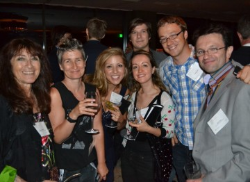 A group of the Brits To Watch enjoy a drink with BAFTA COO Kevin Price and BAFTA Los Angeles Board Member Katy Haber.